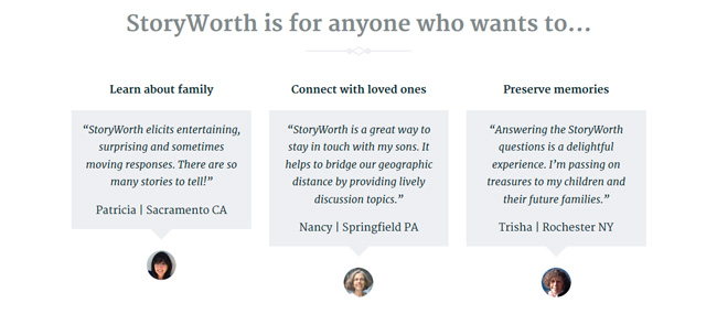 StoryWorth is for anyone!