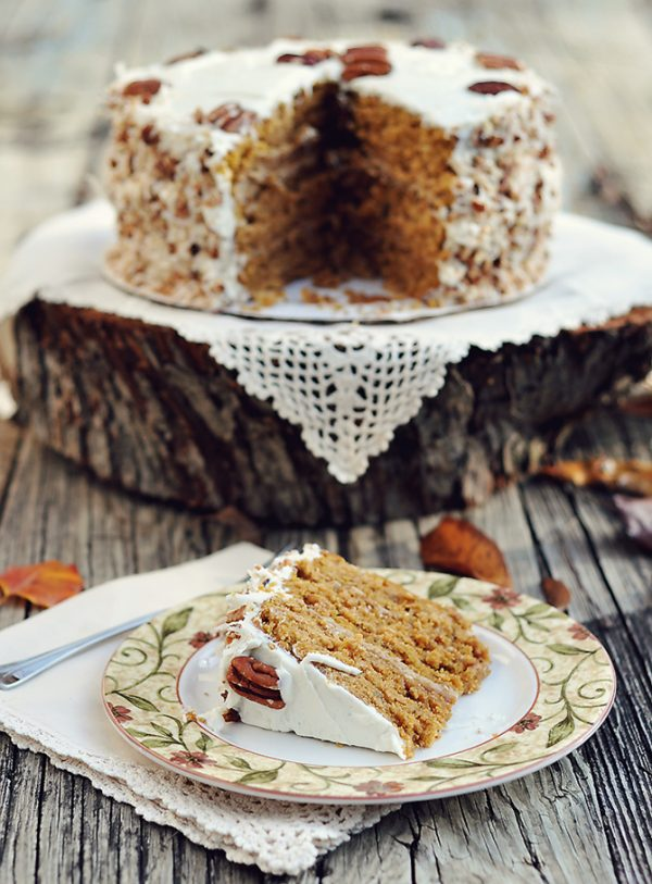 Perfect Pumpkin Recipes! Caramel Pumpkin Italian Cream Cake that will rock your world!