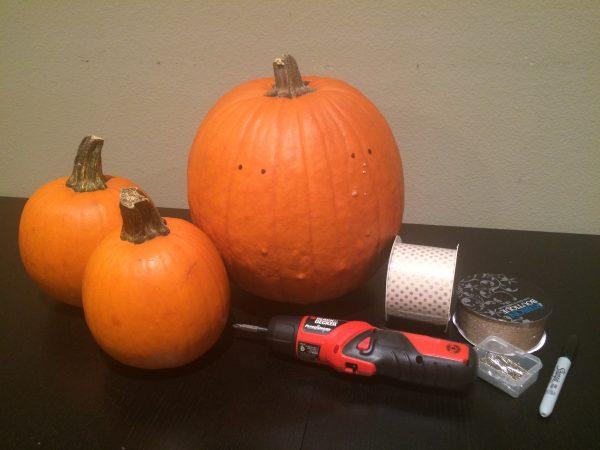 Supplies for Pumpkin Weaving!