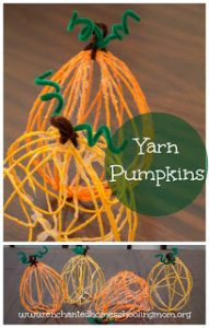 Yarn Pumpkins that are too cute for words!