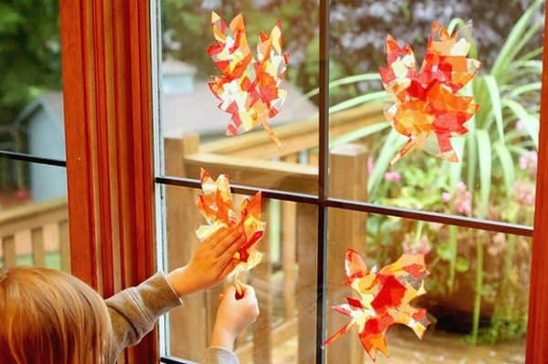 Beautiful Leaf Suncatchers that are so fun to make!