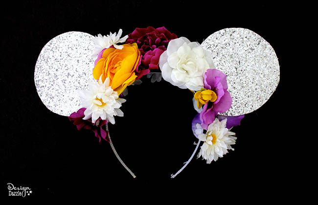 """Make """"Tangled"""" inspired Minnie Mouse ears with Design Dazzle!"""