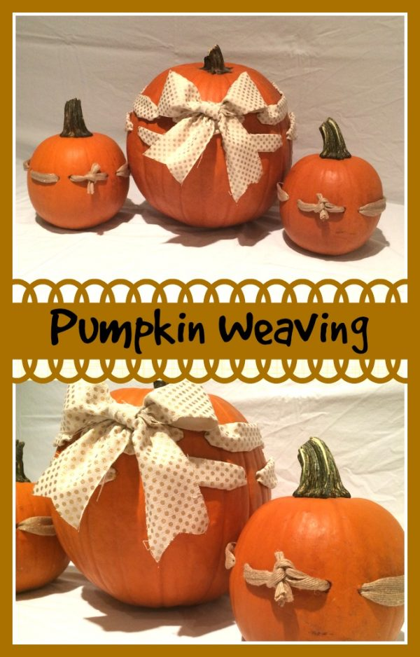 Pumpkin Weaving! Darling, Easy, DIY way to decorate your pumpkin this fall! Full tutorial on Design Dazzle
