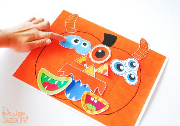 Halloween Pumpkin Face Activity for Kids