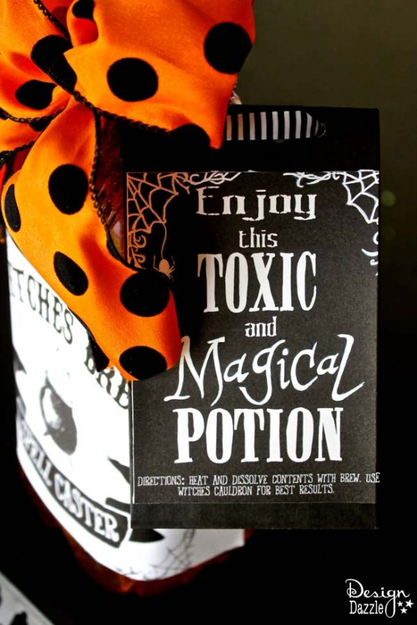 Label for apple cider spices. Make sure to mix up in a witches cauldron for best results. Design Dazzle