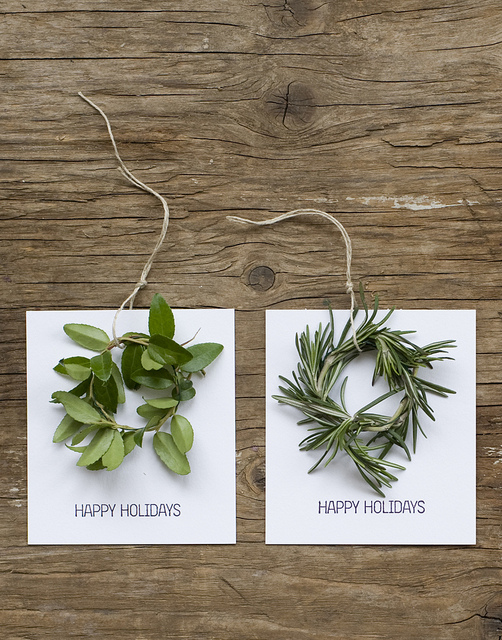 Homemade Mini Wreath Cards from frolic that are sweet and simple!