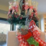 Christmas Dining Room Decor (& How to Tie a Simple Bow!)