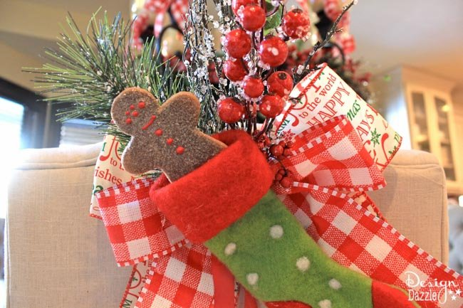 Easy holiday decorating with ribbon design dazzle for Another word for christmas decoration