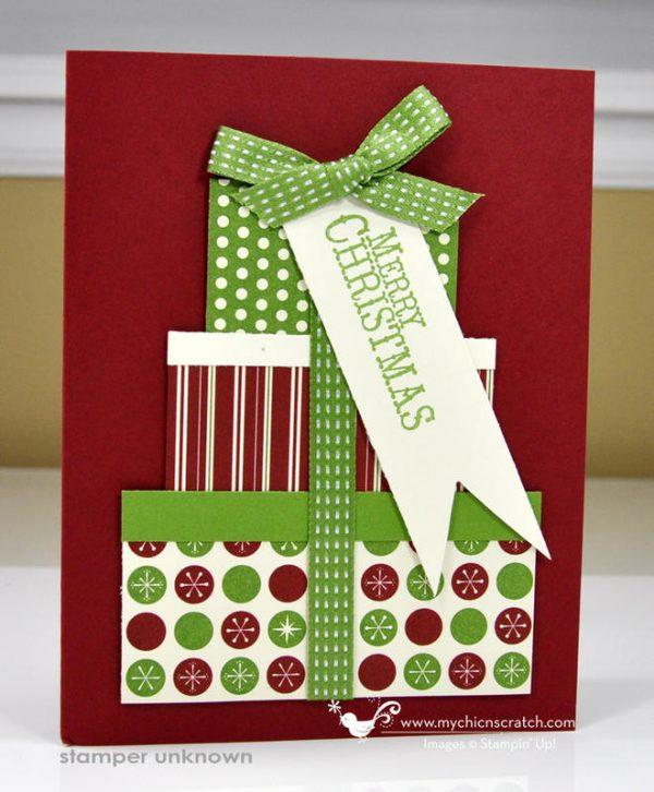 Christmas presents on a darling Christmas Card!