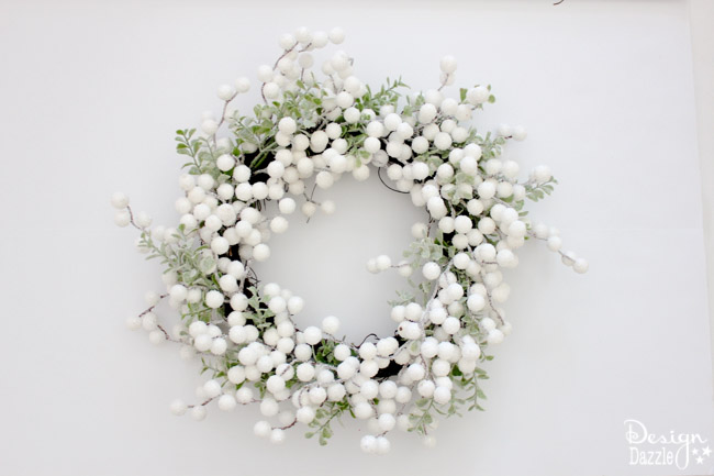Have a wreath that needs to be spruced up? DesignDazzle shows you an easy DIY!