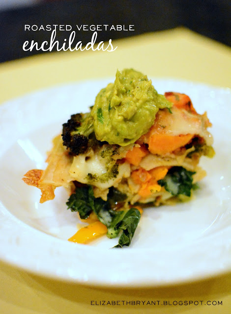 Roasted Vegetable Enchiladas. 9 Deliciously Healthy recipes for the New Year! | Design Dazzle