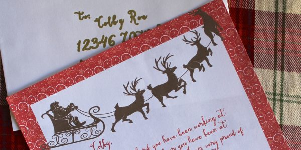 Everyday Party Magazine Letter from Santa on Design Dazzle