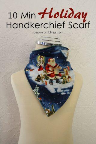 Christmas Handkerchief Scarf