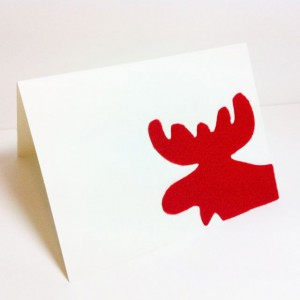 Simple Moose Card. Love the moose.