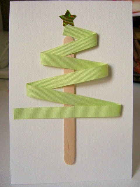 Homemade Christmas Card that is unbelievably cute and easy to do!