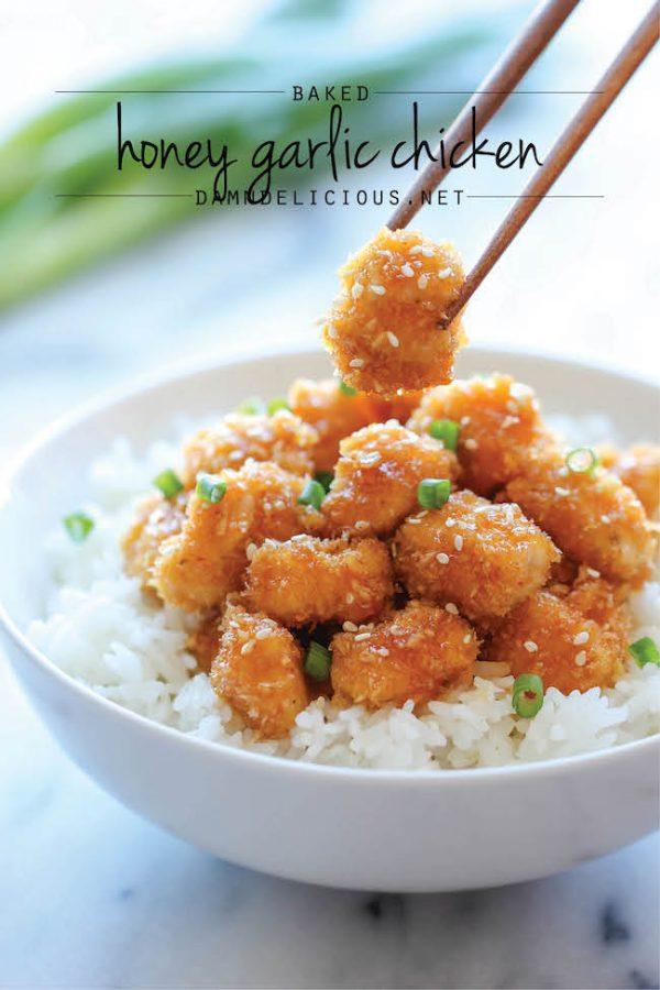 Baked Honey Garlic Chicken! Healthy Option!!