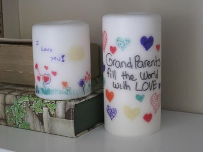 Personalized Candles for Christmas Gifts! Homemade gifts that kids can help make!