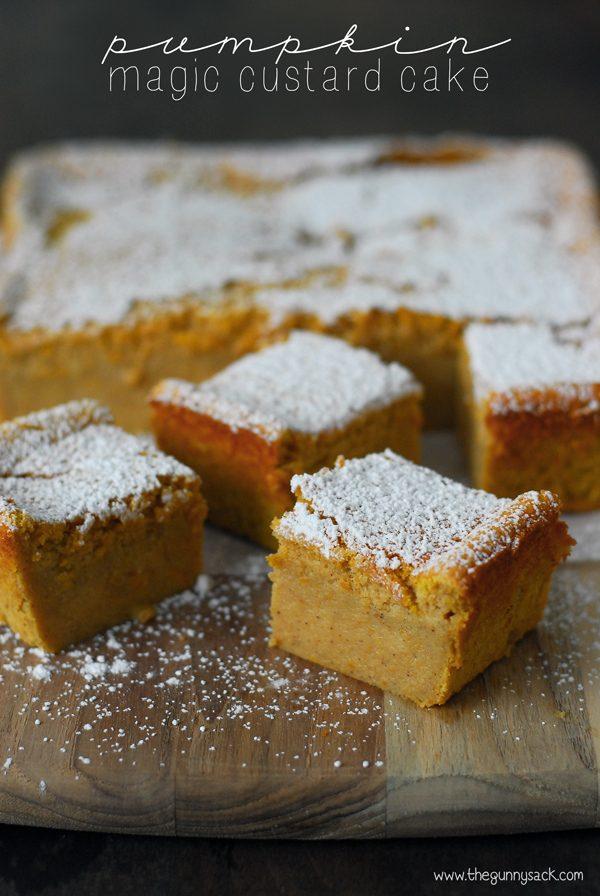 Magic Pumpkin Custard Cake that is perfect for Fall!!