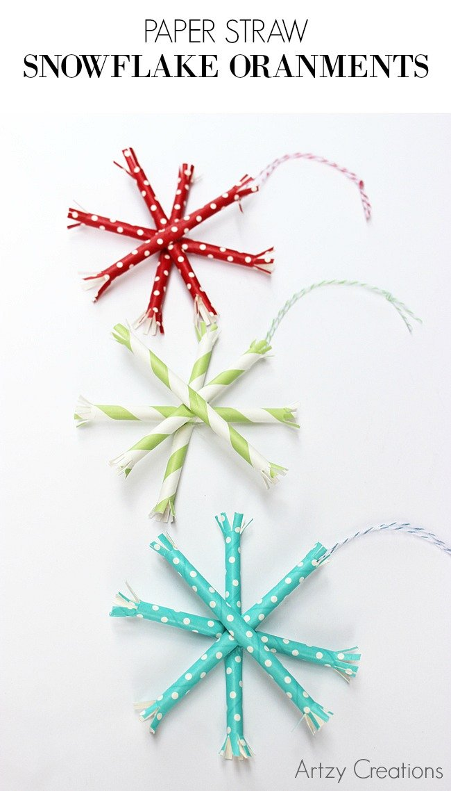 Paper-Straw-Snowflake-Ornaments-Artzy Creations 2