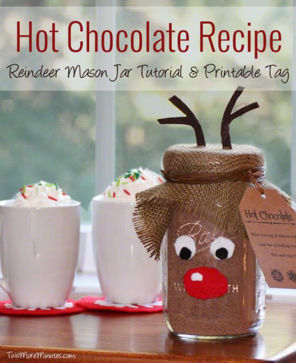 Reindeer Hot Chocolate! Great homemade gift that kids can help make!