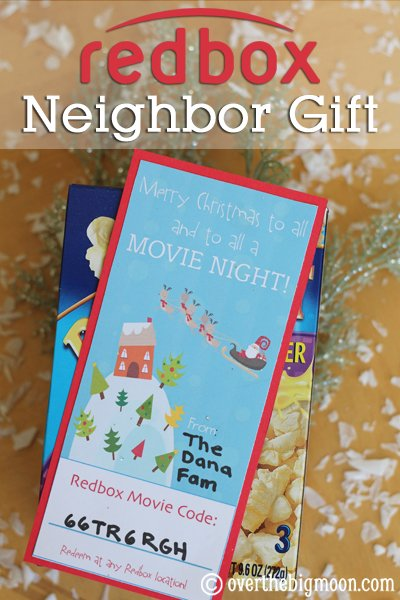 Redbox Neighbor Gift that is genius!
