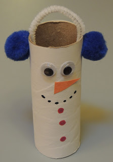 Toilet Paper Roll Snowman! DIY Christmas Snowman Craft for kids!
