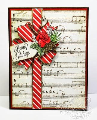 DIY Christmas Music Card that is sweet and festive.