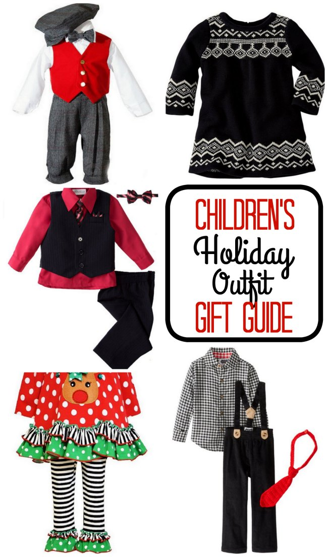 Cute children's holiday outfits for Christmas