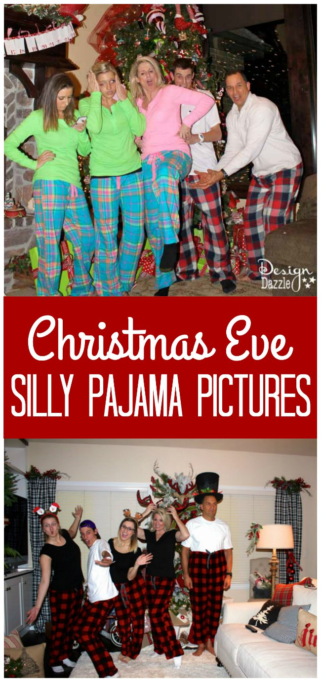 A Christmas Eve Tradition - taking silly matching pajama pictures!