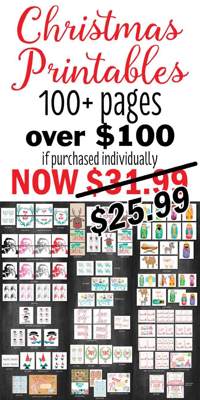 Christmas Printable Set Cyber Monday Sale!