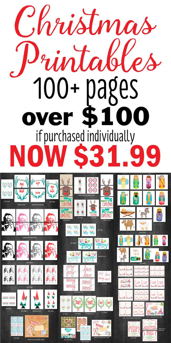 HUGE Christmas Printable Set available to purchase at www.designdazzle.com