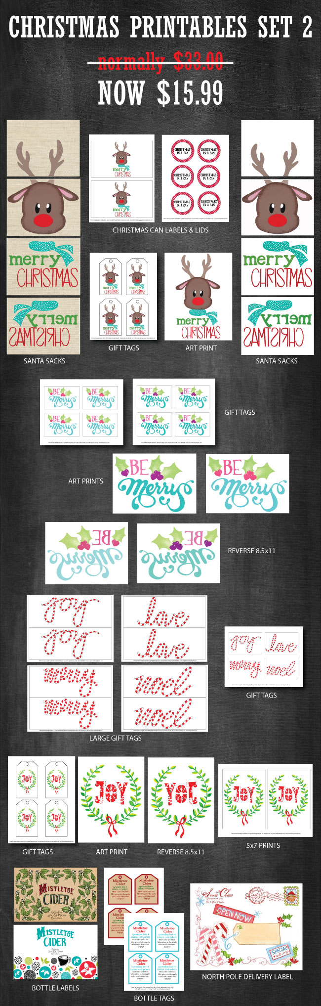 Christmas Printable Set available to purchase at www.designdazzle.com