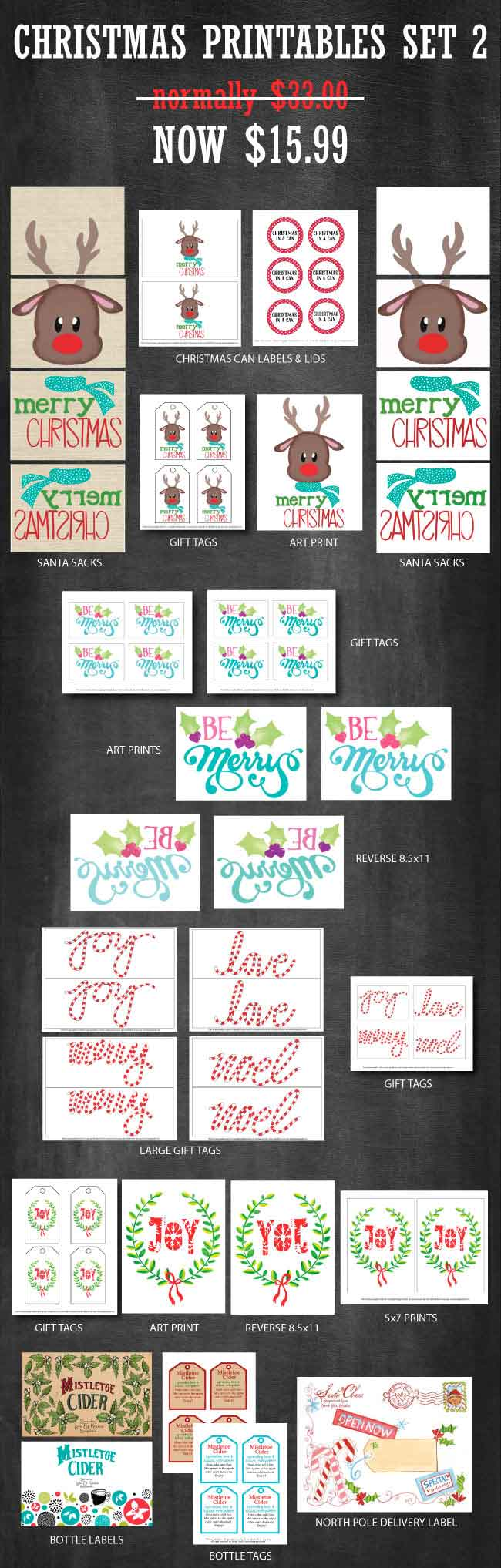 Christmas Printables Set available at www.designdazzle.com