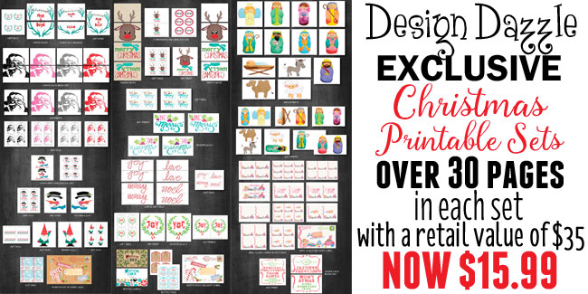 Christmas Printables available exclusively at www.designdazzle.com