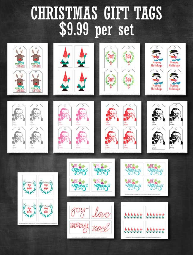 Christmas Gift Tags available exclusively at www.designdazzle.com