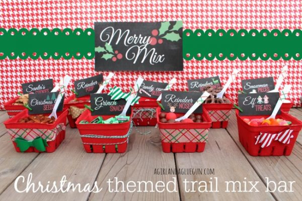 christmas ideas for kids - christmas-themed trail mix