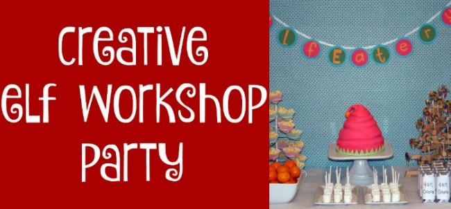 Creative elf workshop party