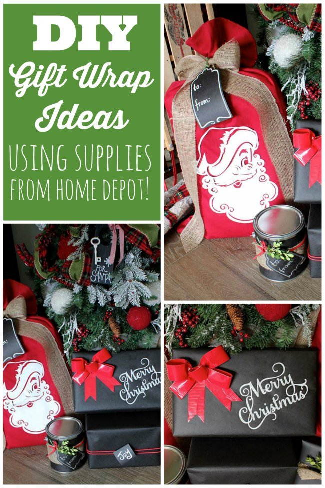 diy gift wrap ideas using supplies from home depot - Home Depot Holiday