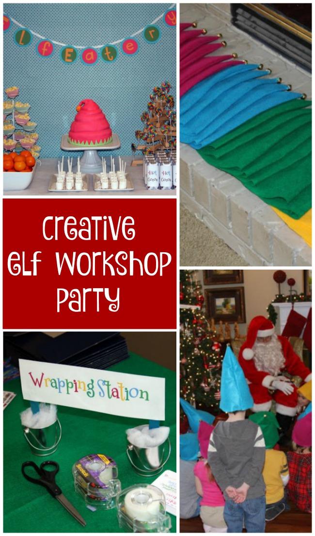 Fun & creative elf workshop party for Christmas birthdays!
