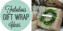 Fab gift wrap ideas