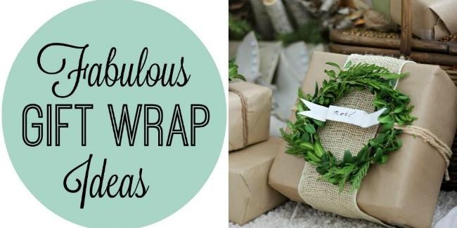 Fab gift wrap ideas