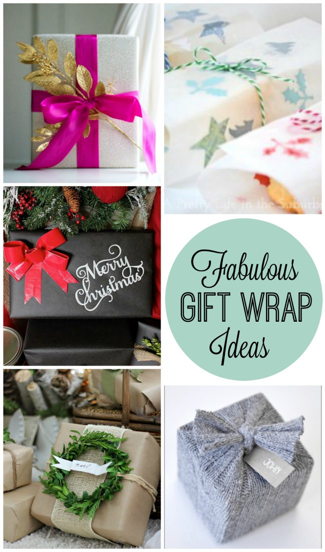 Fabulous gift wrapping ideas for Christmas!