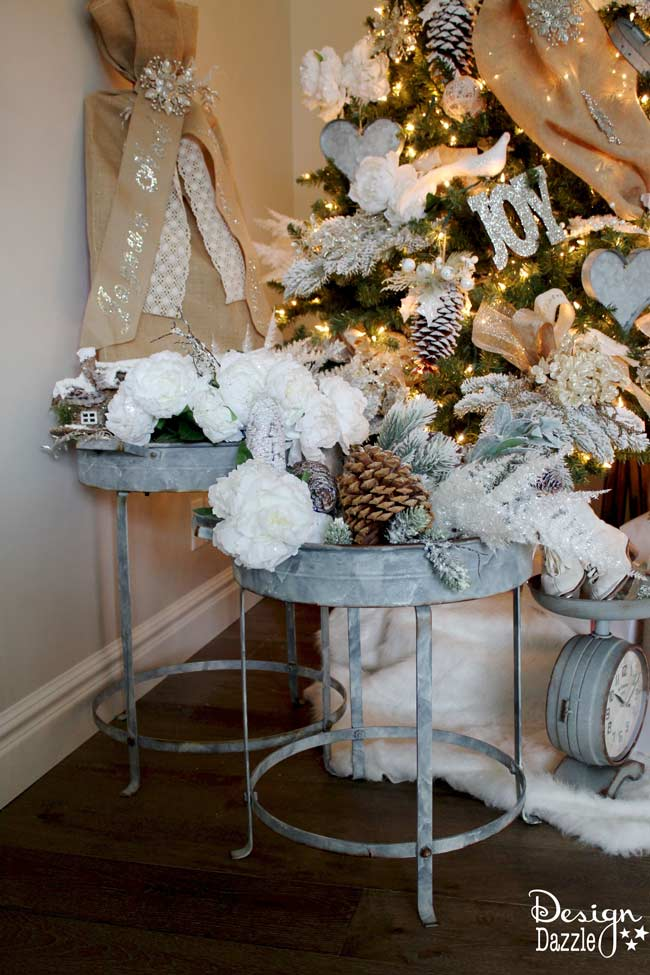 ... Set Adds Vertical Appeal And Provides A Perfect Place To Add Some  Greenery And Textural Details. I Also Used Some Of My Past Years Christmas  Decor.