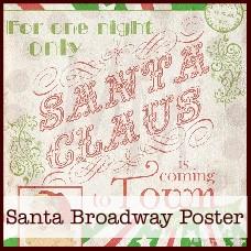 h-santa broadway poster