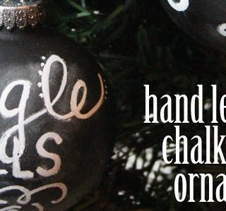 Hand Lettered Chalkboard Ornaments