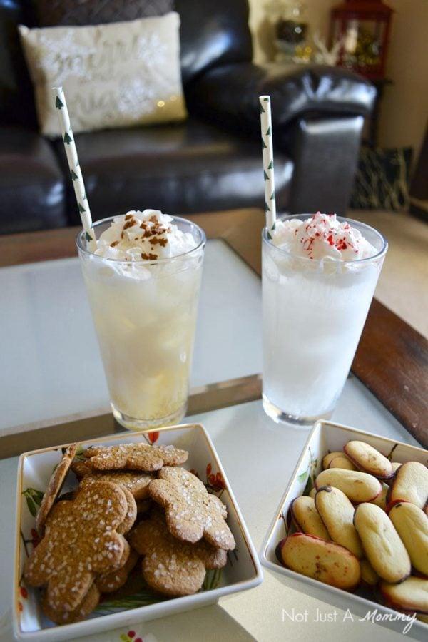 How to create a holiday Italian soda bar; drink closeup
