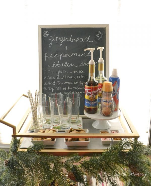 Perfect for the holidays, a holiday Italian soda bar
