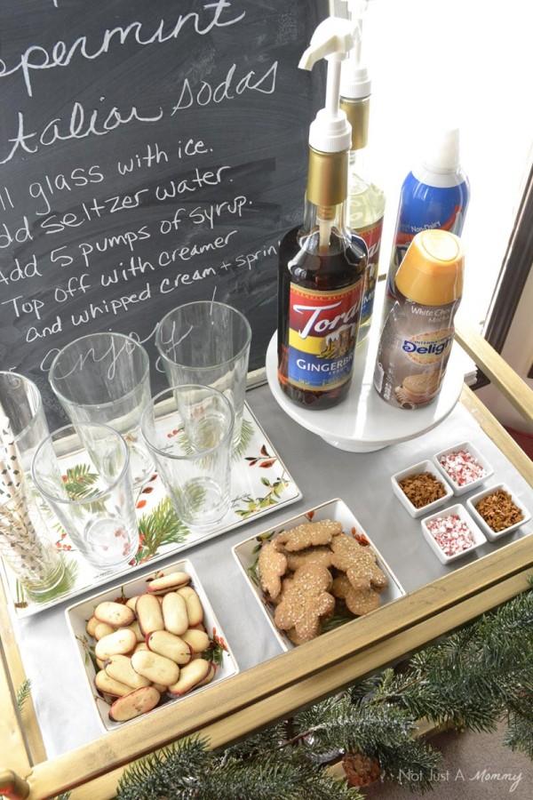 How to create a holiday Italian soda bar;