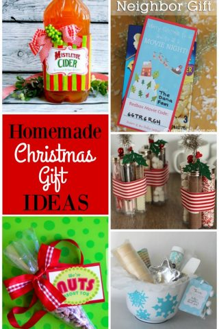 Great roundup of homemade Christmas gift ideas for family & friends!