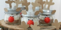 hot cocoa reindeer jars